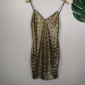 Lulu's Gold shimmer dress